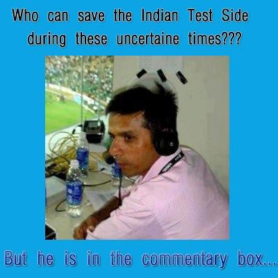 Rahul Dravid in commentary box