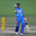 Kohli after scoring a century against Sri lanka