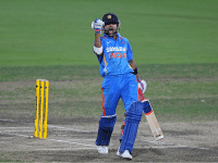 Kohli after scoring a century against Sri lanka