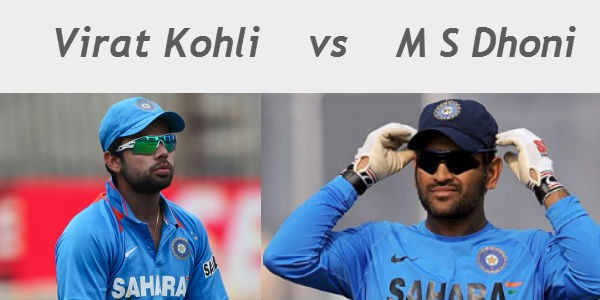Captain of Indian ODI side - Virat Kohli vs M S Dhoni