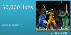 CricBol.com's facebook page reaches 50,000 likes