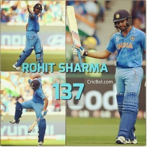 Rohit Sharma hits century in a knock-out match in Word Cup 2015