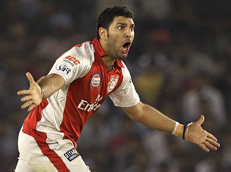 Hat-trick of Yuvraj singh in IPL 2009
