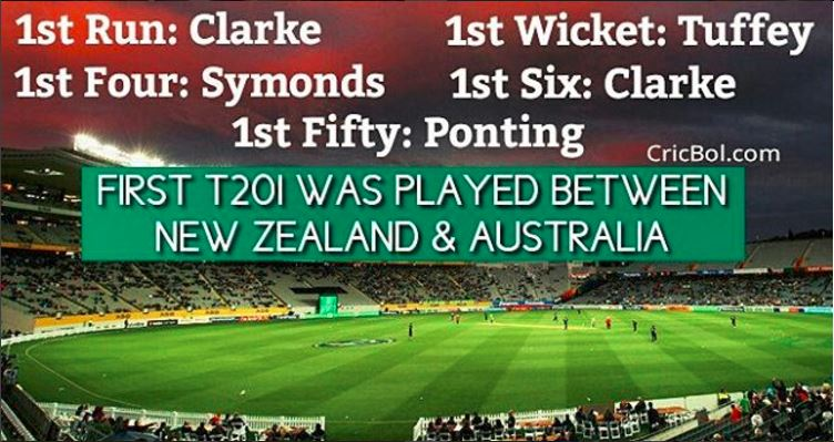 First T20 cricket played between Australia Newzealand