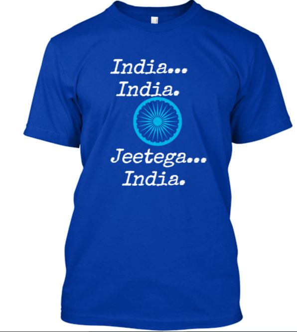 Support your team in the WT20: Wear the Jeetega India premium T-Shirts - available for 5 days only
