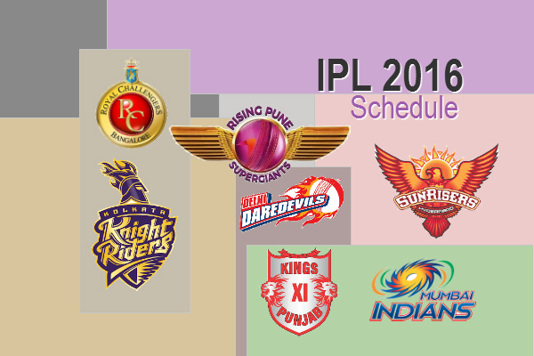 VIVO IPL, IPL 2016, Match plan, IPL 2016 schedule