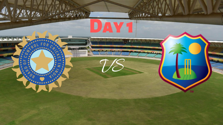 india vs west indies test series day 1