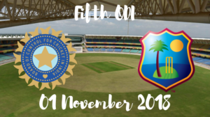 India vs west indies fifth odi