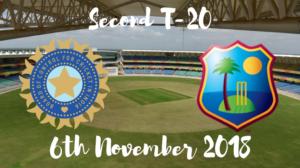 India vs west indies second T20