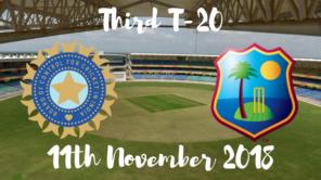 India vs west indies third T20