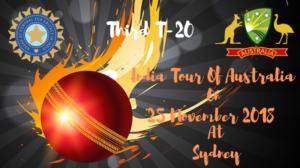 india vs australia third T20