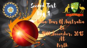india vs australia second test day 1