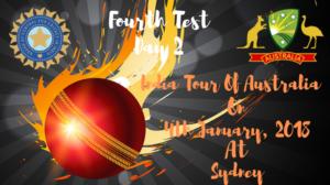 india vs australia fourth test day 2