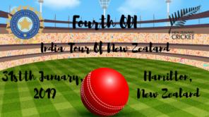india vs new zealand fourth odi