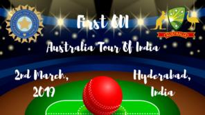 india vs australia first odi